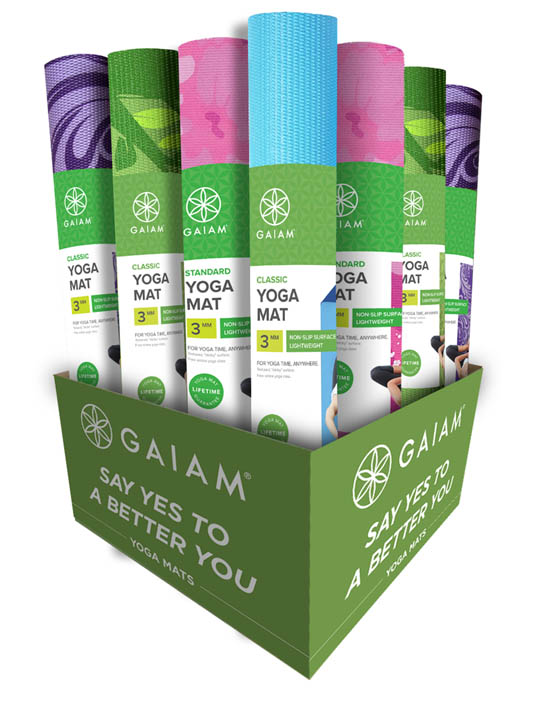 GAM-DISPLAY - Gaiam Yoga Display; Must order 20 Yoga Mats to qualify for Display