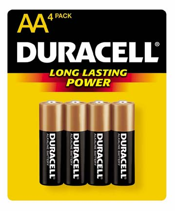 D-1500B4 - Duracell 'AA' Battery, 4-pack (14/56)