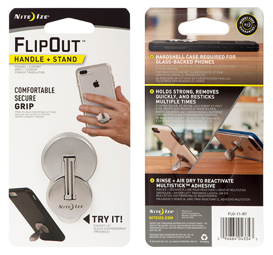 NI-FLO-11-R7 - Nite Ize FlipOut Phone Stand   ** ETA March 2018**       (6/72)