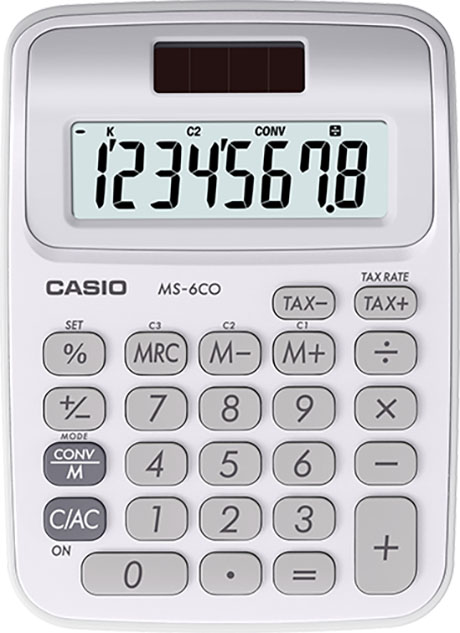 CS-MS-6CO - Casio 8 Digit Desktop Metric Conversion Calculator 2.5