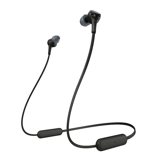 SO-WIXB400/B - Sony Behind the Neck Extra Base Bluetooth-NFC w/Mic Earbud Black