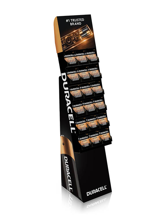 D-8PACK DISPLAY - Duracell 8-PK Floor Display; Contains 48 'AA' & 30 'AAA' Battery